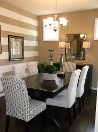 Dining Room Horizontal Stripes