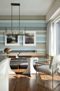 Dining Room Horizontal Stripes2