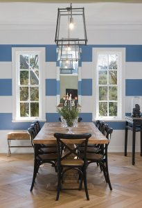 Modern Wall Stripe, Traditional Dining Room