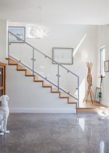 Concrete Floor Hallway