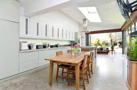 Polished concrete floor kitchen extension