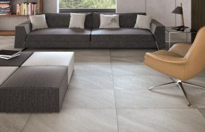 Natural Stone In The Hallway Large Ceramic Floor Tile Modern Living Room