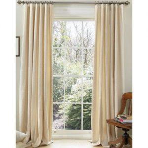linen wave curtain