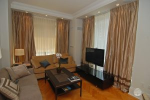 pleated curtain living room