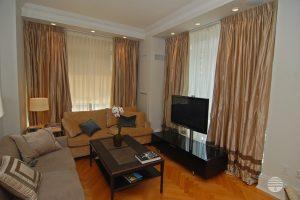 pleated curtain living room