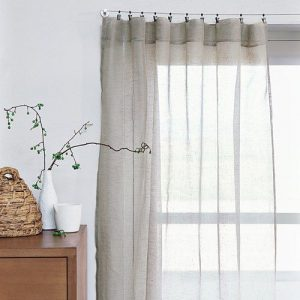 wave linen curtain plan