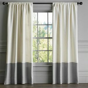 wave linen curtains 2 tone
